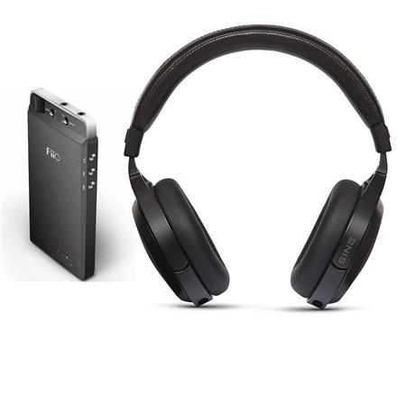 AUDEZE SINE On-Ear Closed-Back Headphones with Standard Audio Cable -  Bundle with FiiO E18 Kunlun Android Phone USB DAC & AMP