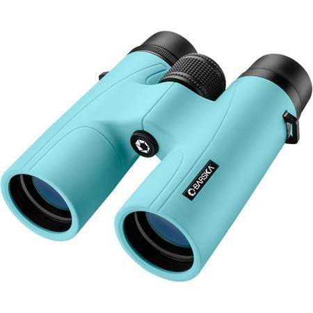 Barska 10x42 Crush Series Weather Resistant Roof Prism Binocular with 5 8  Degree Angle of View, Breeze Blue