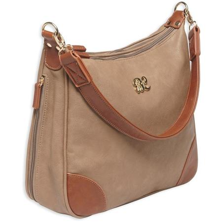 best selection of top-rated real various styles Bulldog Hobo Style PU Leather Concealed Carry Purse with Holster, Taupe  with Tan Trim