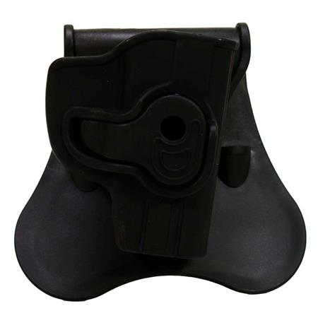 Bulldog Rapid Release Right Hand Polymer Holster with Paddle for Ruger LCP  and Keltec P-3AT Pistols, Black