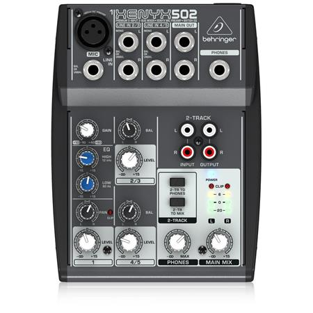 behringer xenyx 502 5 channel compact audio mixer 502 adorama. Black Bedroom Furniture Sets. Home Design Ideas
