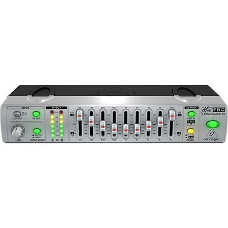 Behringer Mini FBQ FBQ800 Compact 9-Band Graphic Equalizer with Feedback  Detection System, 2 Channel, 10Hz-200kHz System Frequency response