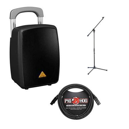 behringer europort mpa40bt pro all in 1 40 watt pa system w mic stand mic cable mpa40bt pro a. Black Bedroom Furniture Sets. Home Design Ideas