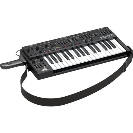 Behringer MS-101 Analog Synthesizer with 32 Full-Size Keyboard, 3340 VCO  with 4 Simultaneous Waveforms, VCF, ADSR, 32-Step Sequencer, Arpeggiator  and
