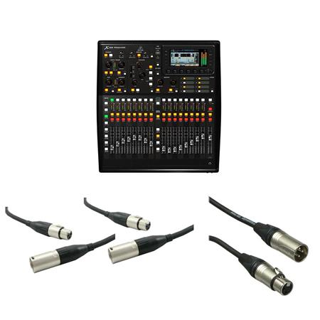 Behringer X32 PRODUCER 25-Bus Digital Mixing Console With 50' - 2x 20' Mic  Cable