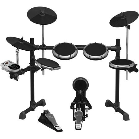 Behringer 8-Piece Electronic Drumset with 123 Sounds, 15 Drum Sets and USB  Interface