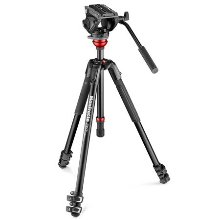 Manfrotto Mvh500ah Fluid Video Head With 190x Video Aluminum Tripod Mvk500190xv