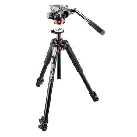 Manfrotto Aluminum 3-Section Tripod with Fluid Video Head