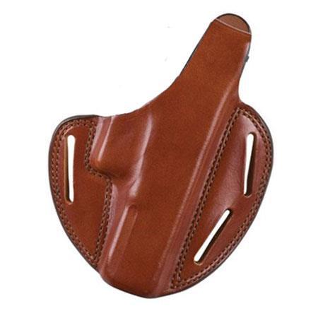 "Smith /& Wesson S/&W K Frame 2-3/"" Leather 2 Slot Pancake Belt Holster CCW TAN RH"