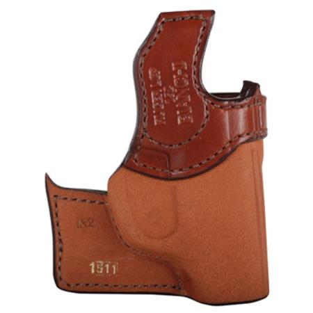 Bianchi 152 Pocket Piece Left Hand Holster for Kel-Tec P-3AT and Ruger LCP  Firearms, Tan Leather