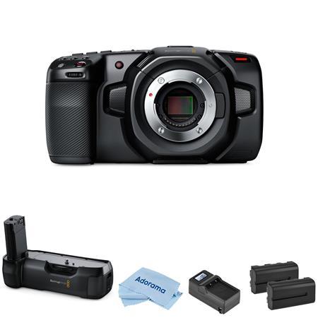 Blackmagic Pocket Cinema Camera 4k With Bmd Battery Grip 2 Batteries Charger Cinecampochdmft4k K