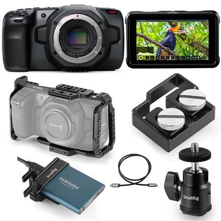 Blackmagic Design Pocket Cinema Camera 6k Advanced Film Makers Kit Cinecampochdef6kf