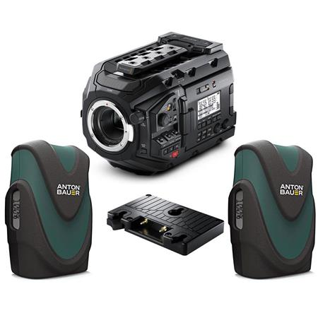 Blackmagic Design URSA Mini Pro 4 6K Camera, EF Mount W/2 Batteries /  Battery Pl