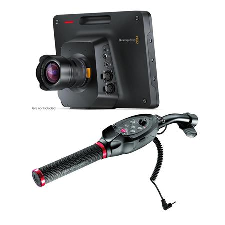 Blackmagic Design Studio Camera 4K 2 - With Manfrotto RC Standard Pan Bar  Ex Remote Control, Black