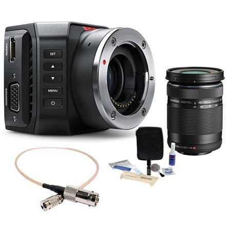 Blackmagic Design Micro Studio Camera 4K With Olympus 40mm-150mm f/4-5 6 R  Lens