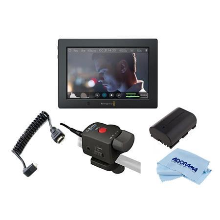 Blackmagic Design Video Assist 4k 7 Touchscreen Lcd Monitor W Accessory Bundle Hyperd Avidas74k E