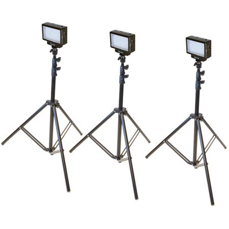 Bescor Led70t Three Point Studio Lighting Kit