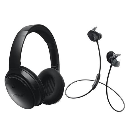 ae10856dcac Bose QuietComfort 35 Wireless Headphones Black W Bose SoundSport ...