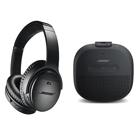 378937b1aac Bose QuietComfort 35 Wireless Headphones II with Mic, Black W/Bose ...