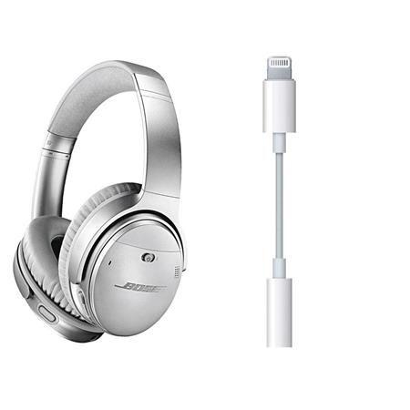 50e28d35510 Bose QuietComfort 35 Wireless Headphones II with Mic Silver W ...