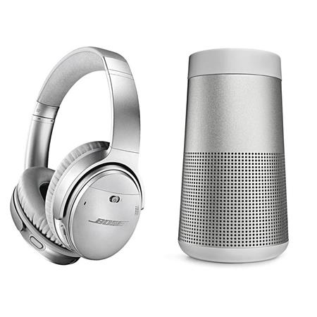 56f40a9be02 Bose QuietComfort 35 Wireless Headphones II Mic, Silver W/Bose ...