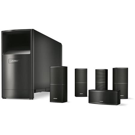 Bose Acoustimass 10 Series V Home Theater Speaker System, Includes 4x  Direct/Reflecting Series II Cube Speaker, Horizontal Center Channel Speaker