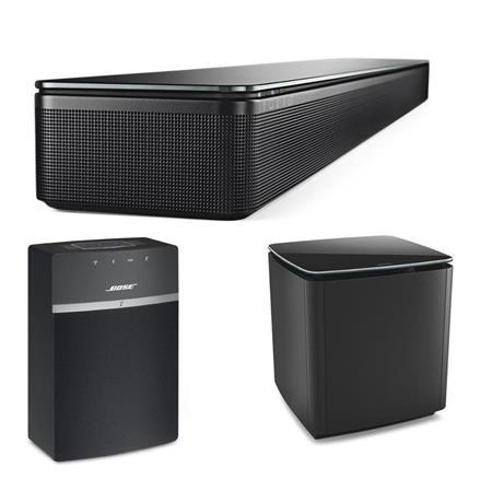 bose soundtouch 300 soundbar black w bose acoustimass 300 bass mod soundtouch 10. Black Bedroom Furniture Sets. Home Design Ideas