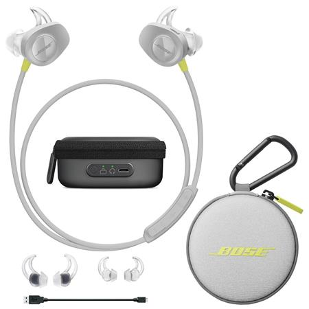 ce6e7cffda3 Bose SoundSport Wireless Headphones Citron With Bose Charging Case ...