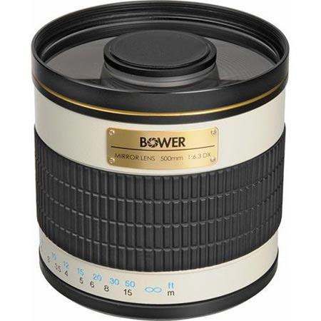 Bower T-Mount 500mm f/6.3 Mirror Lens with Case SLY50063 - Adorama