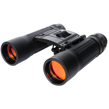 Bower 8x21mm High Power Weather Resistant Roof Prism Compact Binocular With 63 Degree Angle Of View Black