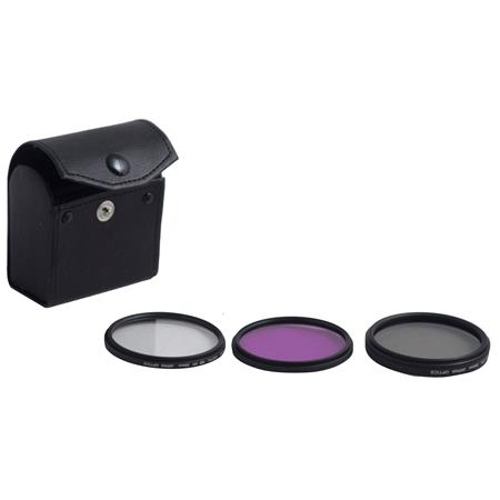 Bower 55mm Video Filter Kit with UV, CPL, & FL-D Filter