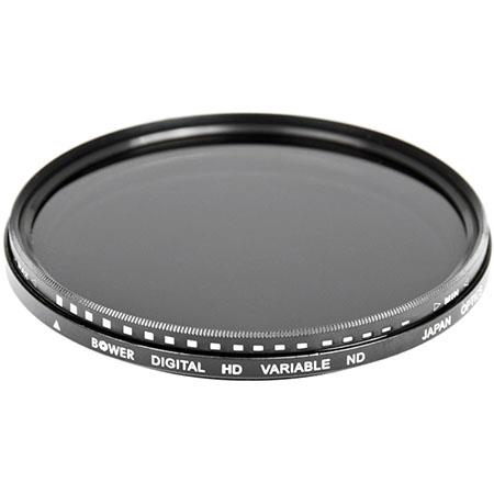bower 95mm variable neutral density (nd) filter - 2 to 8 stops fn95