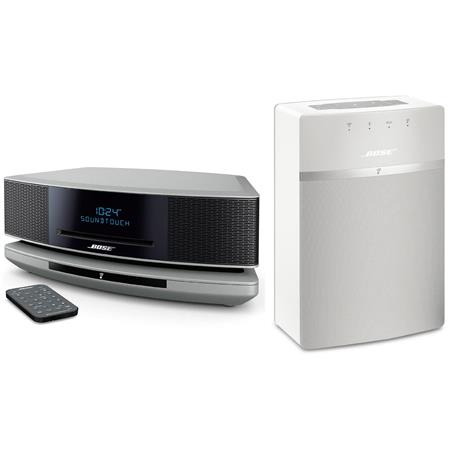bose wave soundtouch music system iv platinum silver w bose soundtouch 10 white 738031 1310 b. Black Bedroom Furniture Sets. Home Design Ideas
