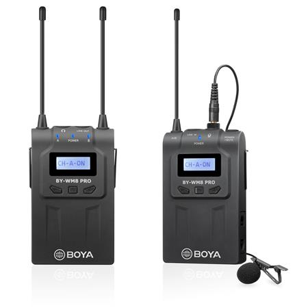 Boya By Wm8 Pro K1 Uhf Dual Channel Wireless Microphone System By