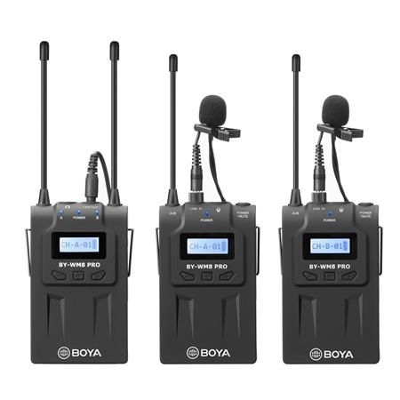 Boya By Wm8 Pro K2 Uhf Dual Channel Wireless Microphone System By