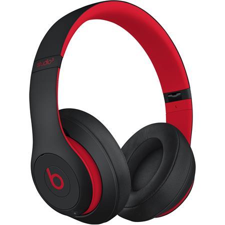 Beats By Dr Dre Beats Studio3 Wireless Over Ear Headphones Defiant Black Red Mx422ll A