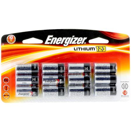 Energizer Cr 123 3v Photo Lithium Batteries Pack Of 12 El123bp12
