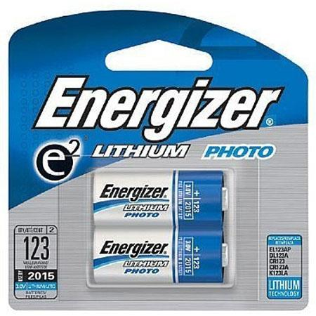 Energizer Cr 123 3v Photo Lithium Batteries Pack Of 2 El123apb2