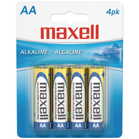 Maxell AA 1.5v Alkaline Battery, Pack of 4 723465 - Adorama