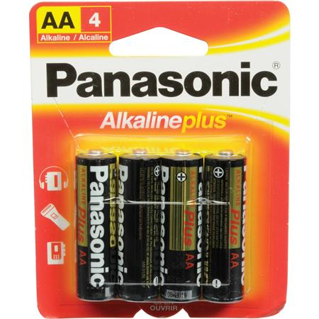 Panasonic 15V AA Alkaline Plus General Purpose Battery 4 Pack