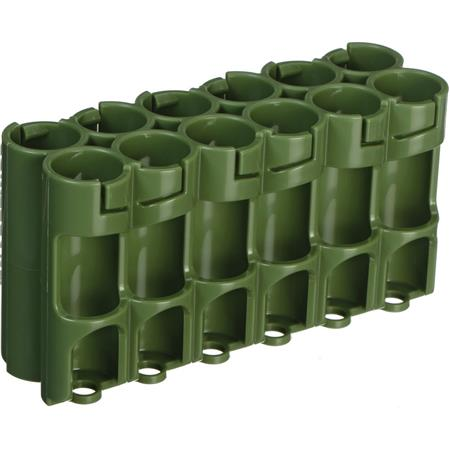 Powerpax 12 Pack Military Green AA Battery Caddy