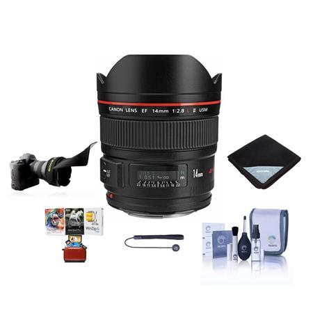 Canon EF 14mm f/2 8L II USM Lens, USA with Free Mac Accessory Bundle