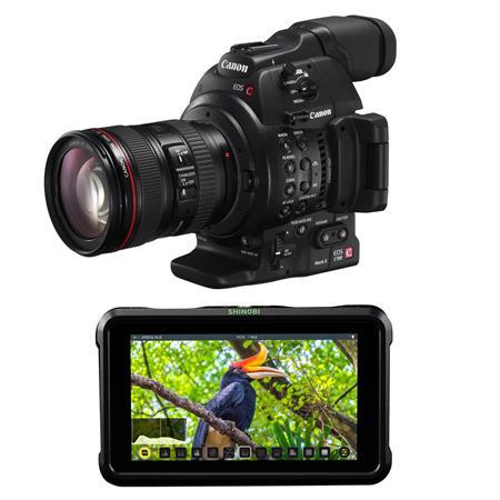 Canon EOS C100 Mark II Dgital CMOS Camera w/EF 24-105/F4 L W/Atomos 5 2