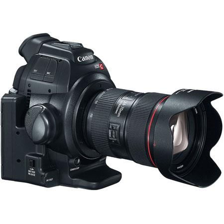 Canon c100 with lens