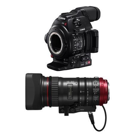 Canon EOS C100 Mark II Body with Canon CN-E 18-80mm T4 4 Cinema Zoom Lens