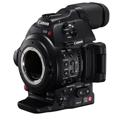 Canon EOS C100 Mark II Cinema Camcorder Body with Dual Pixel CMOS AF  Feature Upgrade - EF Lens Mount
