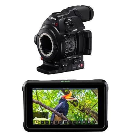 Canon EOS C100 Mark II Body with Dual Pixel CMOS W/Atomos Shnbi 5 2