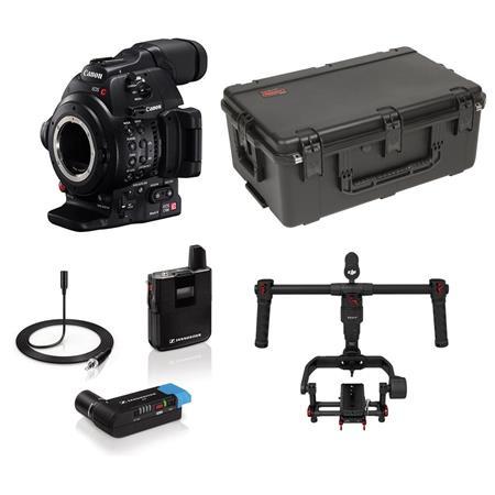 Canon EOS C100 Mark II Wedding/Documentary Kit with Sennheiser AVX-ME2  Camera Mountable Lavalier Wireless Set and DJI Ronin-M 3-Axis Handheld  Gimbal
