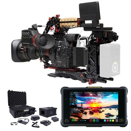 Canon EOS C300 Mark II ProRes RAW Atomos Kit with 17-120mm EF Lens - Bundle  with Zacuto ENG Package