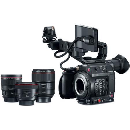 Canon EOS C200 8 85MP EF Mount 4K UHD Digital Cinema Camera with Prime Lens  Bundle